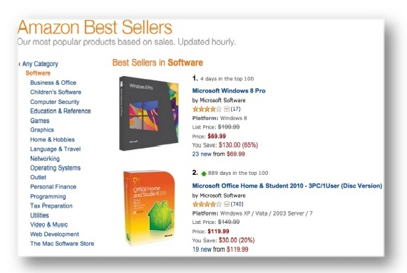 Windows 8 Amazon