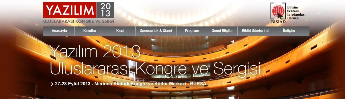 yazılım 2013 kongre ve sergisi